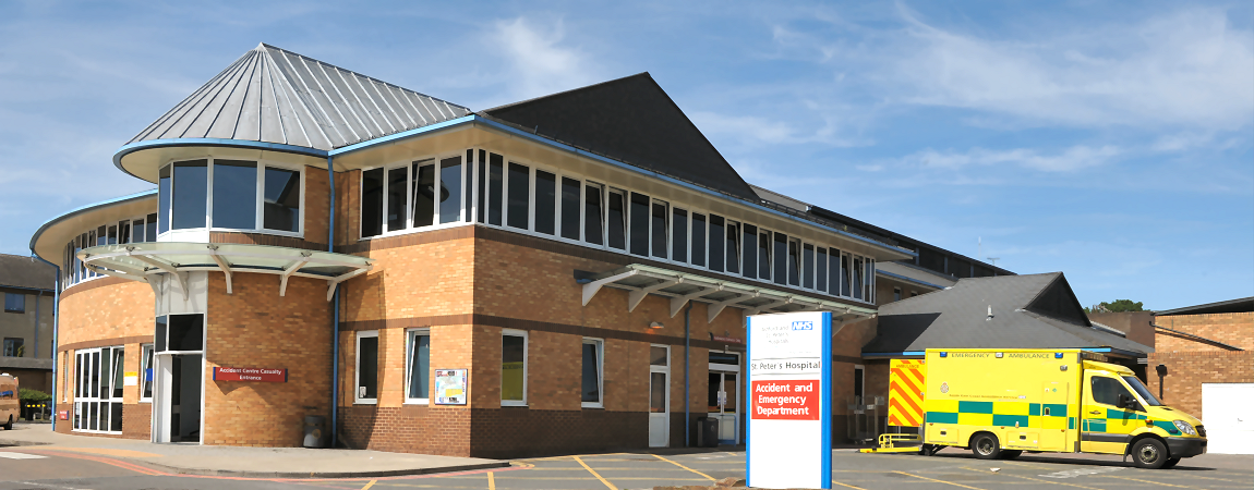 The emergency department at Saint Peter's Hospital - click here to find out more about Emergency services
