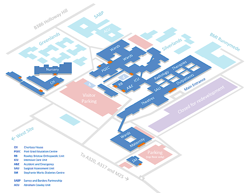 A map of Saint Peter's Hospital - click here to find out more