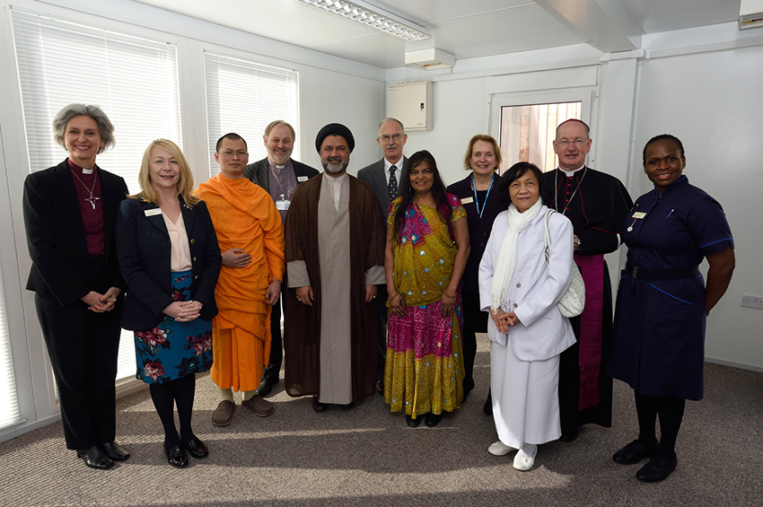 At the new Multi-Faith Centre opening